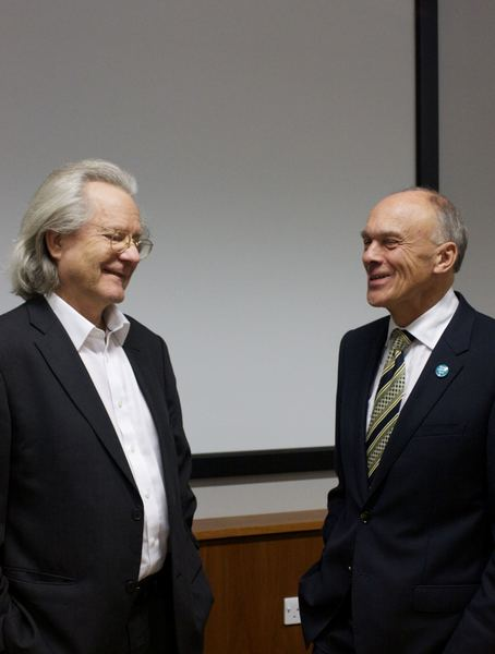 Prof. Grayling and our Chair, John Adams
